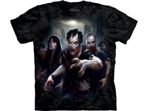 tričko, zombie, horor, batikované, potisk, mountain