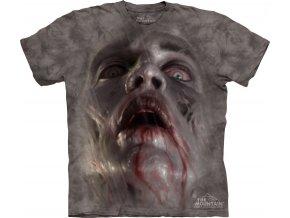 tričko, zombie, 3d, batikované, potisk, mountain
