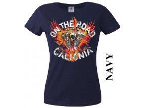 Dámské chopper tričko s potiskem California