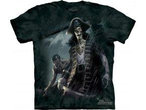 tričko, pirát, zombie, potisk, batikované, kostlivec