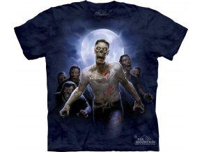batikovane tricko potisk zombie
