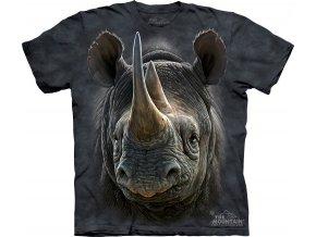 batikovane tricko cernny nosorozec