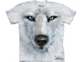 3d tricko potisk bily vlk