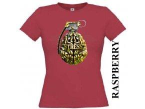 Dámské tričko s potiskem granátu stress