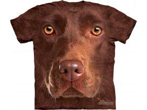 tričko, pes, hnědý labrador, potisk, batikované, 3d