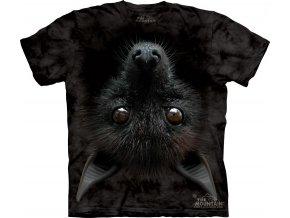 Tričko, netopýr, 3d, potisk, batikované, mountain
