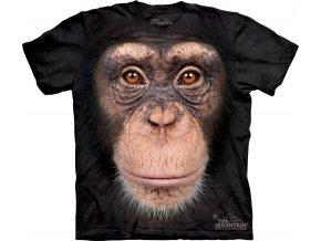 tričko, šimpanz, 3d, batikované, potisk, opice
