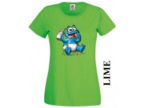 Dámské tričko s potiskem Cookie Monster