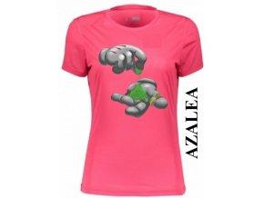 Azalkově červené dámské levné tričko s jointem