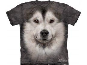 tričko-pes-malamut-3d-potisk-batikované