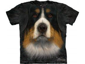 tričko-bernský salašnický pes-3d-potisk-batikované