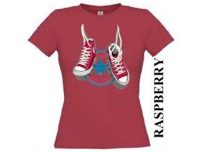 Dámské tričko s potiskem tenisek Converse