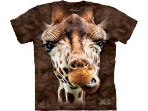 tričko, žirafa, 3d, batikované, potisk, mountain