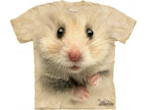 tričko, křeček, 3d, potisk, batikované, mountain