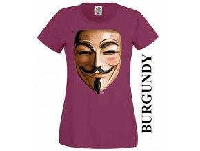 damske-3d-tricko-anonymous-vinove