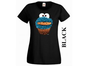 Dámské 3D tričko s vtipným potiskem Cookie Monster