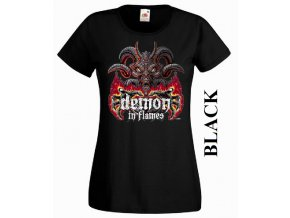 Dámské 3D tričko s vtipným potiskem démona
