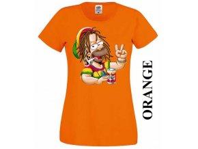 Damske-3D-tricko-rasta-homer-simpson-oranzove