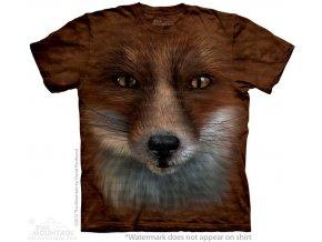 tričko, liška, 3d, potisk, batikované, mountain