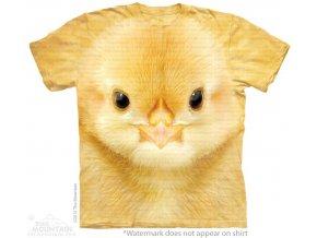tričko, kuřátko, 3d, potisk, batikované, mountain