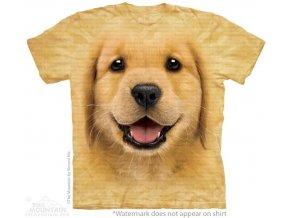 tričko-pes-štěně retrívra-batikované-potisk-mountain