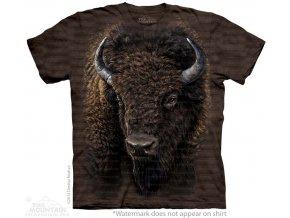 tričko bizon indiánské potisk batikované