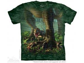 batikovane tricko potisk dinosaurus