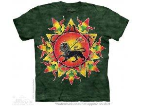 tričko rasta lev jamajka potisk batikované