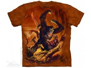 tričko-King Kong- boj- potisk- batikované
