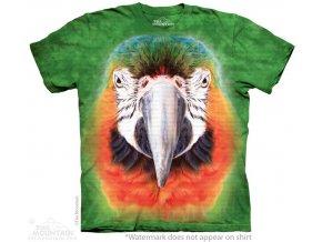 tričko-papoušek-hlava-batikované-potisk-mountain