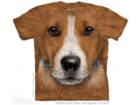 tričko, pes, russell terier, 3d, potisk, batikované