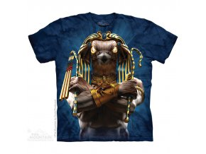 tričko, voják, egypt, batikované, potisk, bůh hor