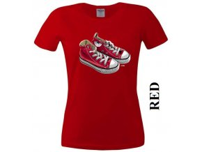 Dámské 3D tričko s potiskem Converse tenisek