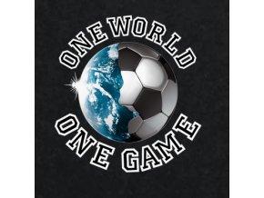 Nažehlovací transferový obrázek pro potisk textilu one world game
