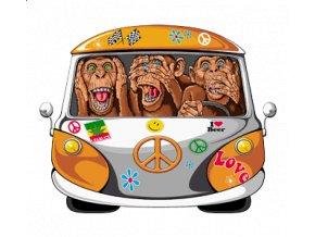 Nažehlovací transfer obrázek hipie VW