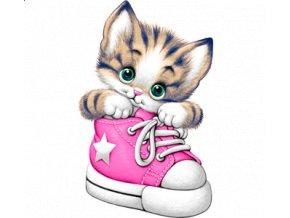 Nažehlovací transfer obrázek kotě kočka bota