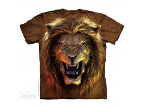 tričko-lev-bestie-potisk-batikované-mountain