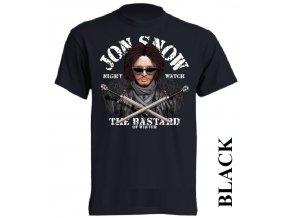 levné-tričko-černé-potisk-jon_snow-hra_o_trůny