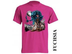 dětské_levné-tričko-tmavě_růžové-potisk-noční_král-hra_o_trůny