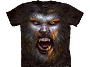 tričko, vlkodlak, 3d, batikované, potisk, mountain