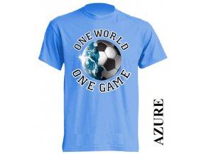 levné-tričko-azurově_modré-potisk-fotbalový_míč-zeměkoule