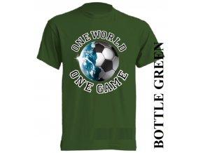 levné-tričko-tmavě_zelené-potisk-fotbalový_míč-zeměkoule