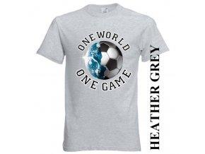 levné-tričko-světle_šedé-potisk-fotbalový_míč-zeměkoule