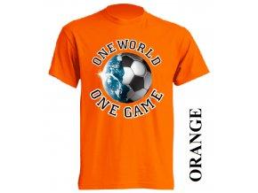 levné-tričko-oranžové-potisk-fotbalový_míč-zeměkoule