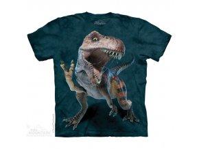 tričko-dinosaurus-trex-batikované-potisk-vtipné
