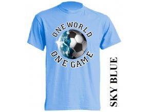 levné-tričko-světle_modré-potisk-fotbalový_míč-zeměkoule