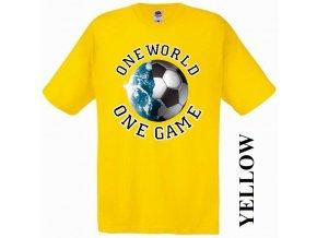 levné-tričko-žluté-potisk-fotbalový_míč-zeměkoule