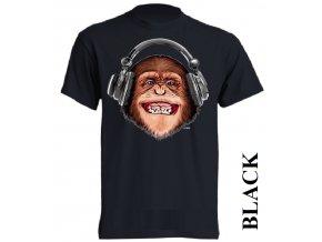 3d-tricko-cerne-potisk-opice-sluchatka