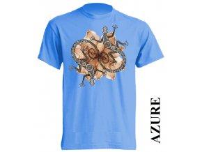 Pánské tričko s potiskem dekorativních ještěrek