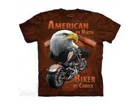 tričko motorka orel chopper batikované